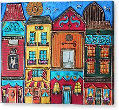 Whimsical Street In Paris 1 Acrylic Print