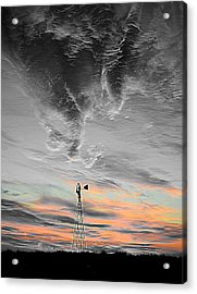 Whirling Acrylic Print by Miss Judith