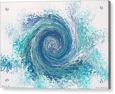 Whirlwind In Blue Acrylic Print