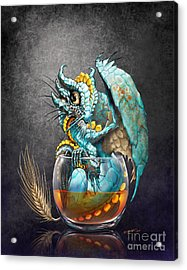 Whiskey Dragon Acrylic Print