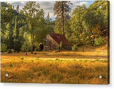 Whiskeytown Barn Acrylic Print by Randy Wood