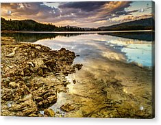 Acrylic Print featuring the photograph Whiskeytown Lake Reflections by Randy Wood
