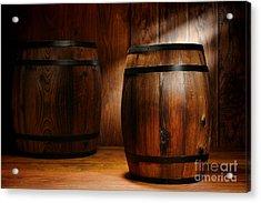 Whisky Barrel Acrylic Print