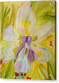 Acrylic Print featuring the painting Whisper by Meryl Goudey