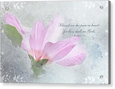 Whisper To Me With Verse Acrylic Print by Debbie Portwood