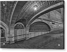 Whispering Gallery Bw Acrylic Print by Susan Candelario