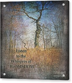 Whispers Of Wisdom Acrylic Print by Pamela Baker