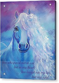 Whispers To My Heart Acrylic Print by The Art With A Heart By Charlotte Phillips
