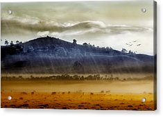 Whisps Of Velvet Rains... Acrylic Print by Holly Kempe