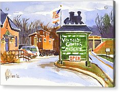 Whistle Junction In Ironton Missouri Acrylic Print by Kip DeVore