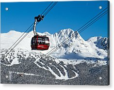 Whistler Blackcomb Peak To Peak Acrylic Print