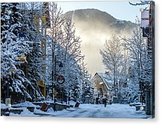 Whistler Village On A Sunny Winter Day Acrylic Print by Pierre Leclerc Photography