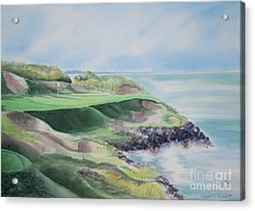 Whistling Straits 7th Hole Acrylic Print by Deborah Ronglien