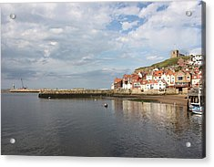 Acrylic Print featuring the photograph Whitby Abbey N.e Yorkshire by Jean Walker