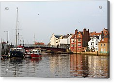 Whitby Harbour Acrylic Print by Jane McIlroy