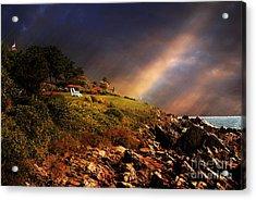 White Adirondacks Acrylic Print by Lois Bryan