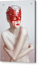 White And Blood Acrylic Print