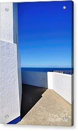 White And Blue To Ocean View Acrylic Print by Kaye Menner
