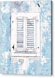 White And Blue Window Acrylic Print