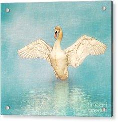 White Angel Acrylic Print by Hannes Cmarits