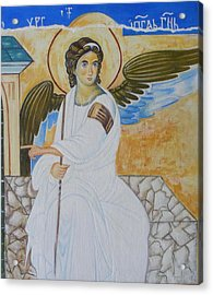 White Angel  Acrylic Print by Jovica Kostic