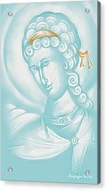 White Angel Acrylic Print by Julia Bridget Hayes