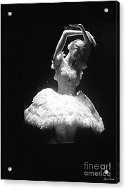 White Ballerina Acrylic Print by Lyric Lucas