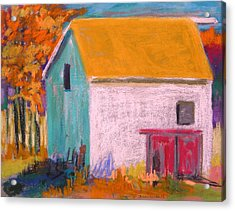 Acrylic Print featuring the painting White Barn by John Williams