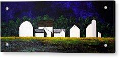 White Barns Acrylic Print