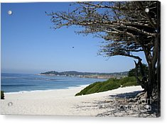 White Beach At Carmel Acrylic Print