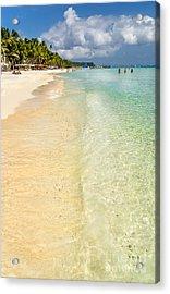 White Beach Boracay Acrylic Print by Adrian Evans