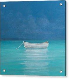 White Boat Kilifi  Acrylic Print