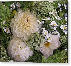Acrylic Print featuring the photograph White Bouquet by Geraldine Alexander