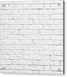 White Brick Wall Acrylic Print