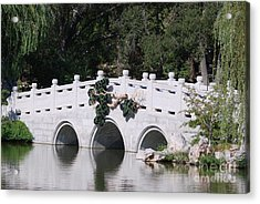 White Bridge Acrylic Print