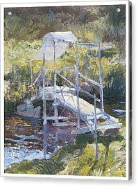 White Bridge Acrylic Print by John Twachtman