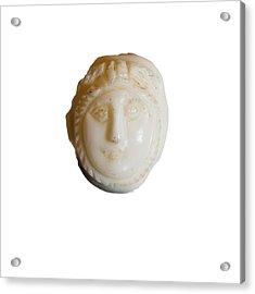 white Cameo mask of Medusa Acrylic Print