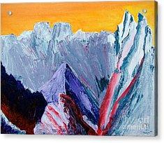 White Canyon Acrylic Print