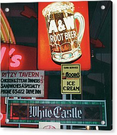 White Castle A And W Acrylic Print
