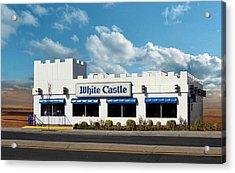 White Castle Acrylic Print by Bruce Lennon