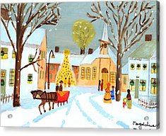 Acrylic Print featuring the painting White Christmas by Magdalena Frohnsdorff