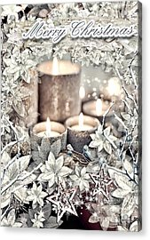 White Christmas Acrylic Print by Mo T