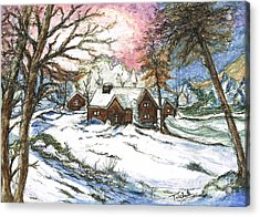 White Christmas Acrylic Print by Teresa White