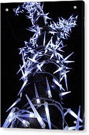 White Christmas Tree Acrylic Print by Michel Mata