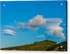White Clouds Form Tornado Acrylic Print