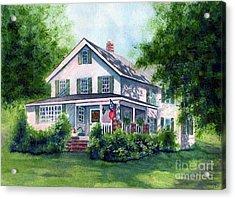 White Country Farmhouse Acrylic Print