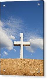 White Cross On Adobe Wall Acrylic Print