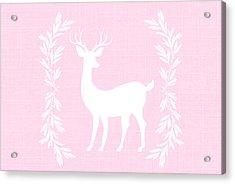 White Deer Acrylic Print by Chastity Hoff