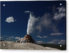 White Dome Geyser In Yellowstone National Park Acrylic Print