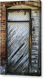 White Door Acrylic Print by Steven  Taylor